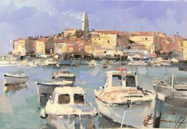 Branko Dimitrijevic, Adriatic Summer, Oil on canvas, 25x35, £290