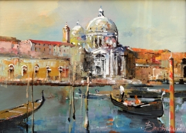 Branko Dimitrijevic, Venice, Oil on canvas, 20x30cm