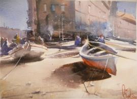 Dalibor Popovic Miksa, Sunny Croatia, Watercolour, 30x25cm, £190