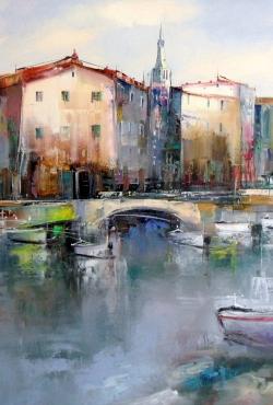 Dejan Slepcevic, Bridge, Oil on canvas, 50x60, £650