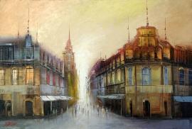 Dejan Slepcevic, City, Oil on canvas, 35x45cm, £330