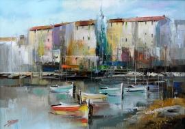 Dejan Slepcevic, Coast, Oil on canvas, 25x35cm