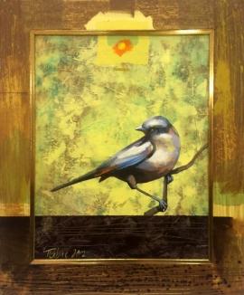 Dragan Petrovic Pavle, A White Bird, Oil on canvas, 40x47cm, £440