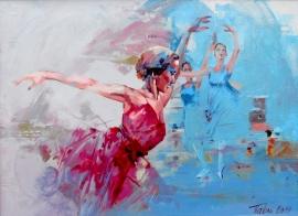 Dragan Petrovic Pavle, Ballerine, Oil on canvas, 60x80cm