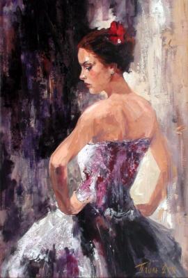 Dragan Petrovic Pavle, Posing, Oil on canvas, 100x70cm