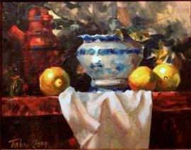 Dragan Petrovic Pavle, Lemons, Oil on canvas, 40x50cm, £490