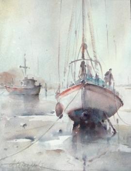 Dusan Djukaric, Morning in Norfolk, Watercolour, 45x35cm