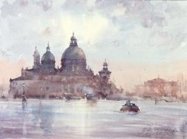 Dusan Djukaric, Venice, Watercolour, 30x40cm