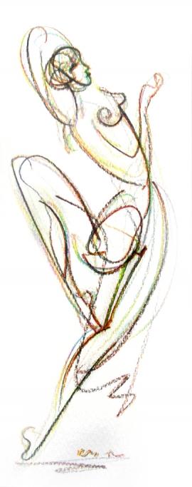 Dusan Rajsic, Dancer, Mixed Media, 20x12cm