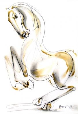 Dusan Rajsic, Horse, Mixed Media, 25x15cm, £180