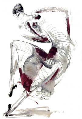 Dusan Rajsic, Dancer, Mixed Media, 50x35cm