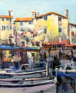 Ivan Stojanovic, Croatian Coast, Oil on Canvas, 60x50cm, £540