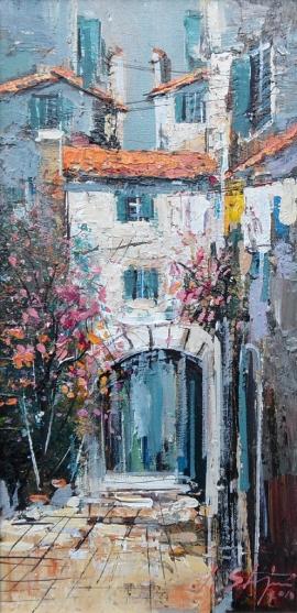 Ivan Stojanovic, Gate oil on canvas, 25x50cm, £330