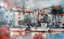 Ivan Stojanovic, Marina, Oil on canvas, 50x80cm