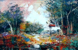 Ivan Stojanovic, Meadow, Oil on canvas, 20x30cm