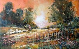 Ivan Stojanovic, Meadow, Oil on canvas, 50x80cm
