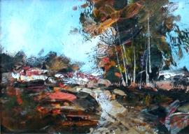 Ivan Stojanovic, Track, Oil on canvas, 15x20cm