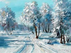 Ivan Stojanovic, Winter, Oil on canvas, 60x80cm, £950