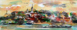 Ljiljana Radosavljevic, Belgrade, Oil on board, 20x50cm, £290