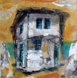 Ljiljana Radosavljevic, Old House, Oil on board, 20x20cm, £150