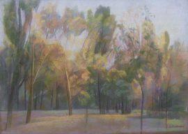 Mirjana Krstevska, Landscape, Pastel, 70x50cm, £450