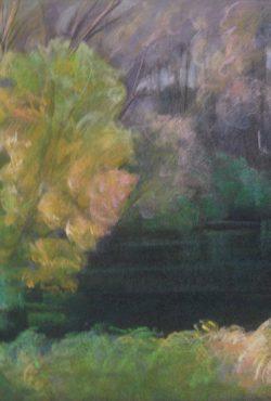 Mirjana Krstevska, River Bank, Pastel, 35x50cm, £250