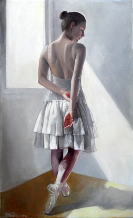 Natasa Kodela, Ballerina, Oil on Canvas, 50x30cm, £480