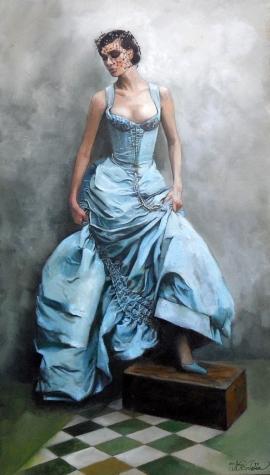 Natasa Kodela, Blue Lady, Oil on Canvas, 50x30cm