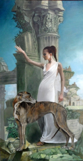 Natasa Kodela, Gatekeeper, Oil on Canvas, 80x40cm