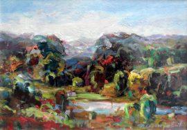 Rade Stanojevic, Landscape, Oil on canvas, 25x35cm, £270