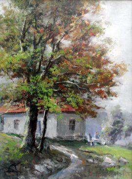 Rade Stanojevic, Rest, Oil on canvas, 30x40cm