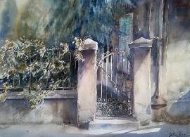 Silva Vujovic, Small Gate,  Watercolour, 37x26cm, £330