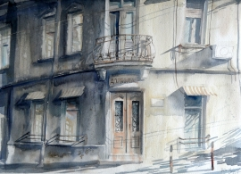 Silva Vujovic, Corner, Watercolour, 30x40cm