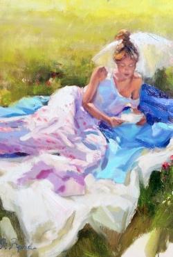 Viktor Vronski, Summer day, Oil on Canvas, 80x60cm