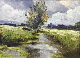 Zoran Zivotic, Stream, Oil on canvas, 15x20, £190