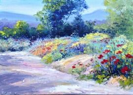 Zoran Zivotic, Fields, Oil on canvas, 25x35cm