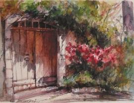 Zoran Zivotic, Gate, Watercolour, 15x20cm, £130
