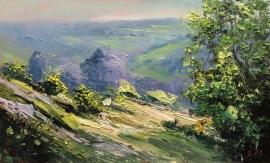 Zoran Zivotic, Hills, Oil on Canvas, 15x20cm, £190