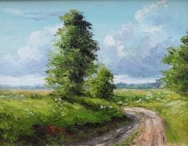 Zoran Zivotic, Path, Oil on canvas, 20x30cm, £230
