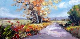 Zoran Zivotic, Path, Oil on canvas, 20x40cm