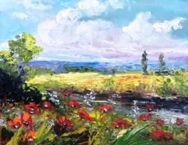 Zoran Zivotic, Poppies, Oil on canvas, 20x30cm