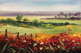 Zoran Zivotic, Poppies, Oil on Canvas, 20x30cm, £240